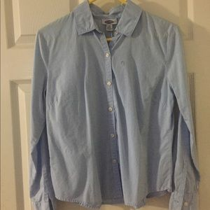 Old Navy Blue Button-up Shirt